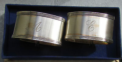 Stunning Pair  Italian Solid 800 Silver Napkin Rings Unused