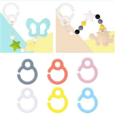 Baby Stroller Plastic Pushchair Pram Pacifier Hanger Hanging Hook Clip Holders