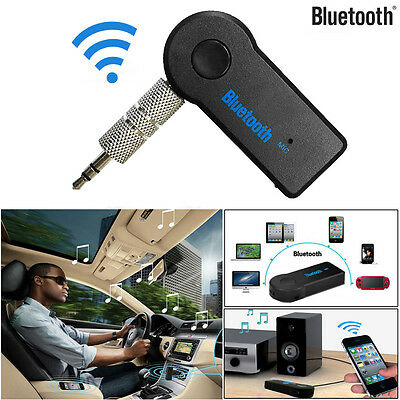 Wireless Bluetooth 3.5mm AUX Audio Stereo Music Home Car Receiver Adapter Mic AU