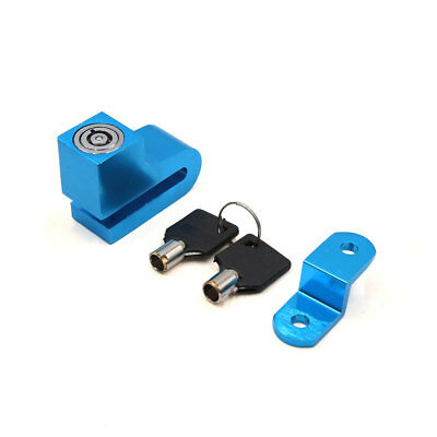 Motorcycle Motorbike U Style Anti Thief Safety Disc Brake Lock Blue w 2 Keys