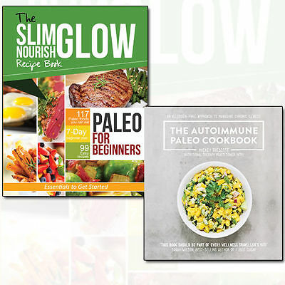 Paleo for Beginners & Autoimmune Paleo Cookbook 2 Books Collection Set, New Pack