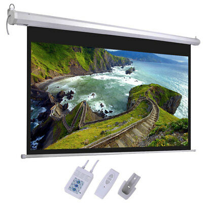 "100"" Projector Screen 16:9 Projection HD Manual Pull Down Home Theater"