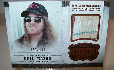 Neil Mason 2014 Panini Country Music Event Worn Material Card 069/499
