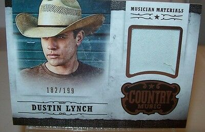 Dustin Lynch 2014 Panini Country Music Event Worn Material Card 182/199