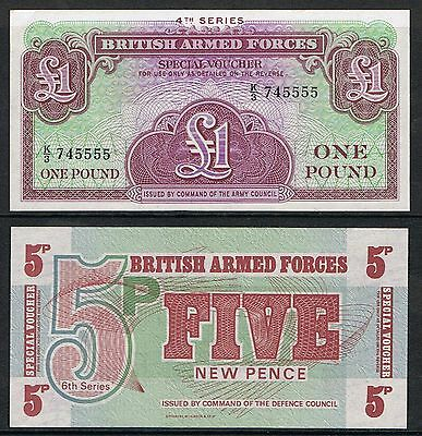 BRITISH ARMED FORCES BAFs Banknotes. Choice of Notes