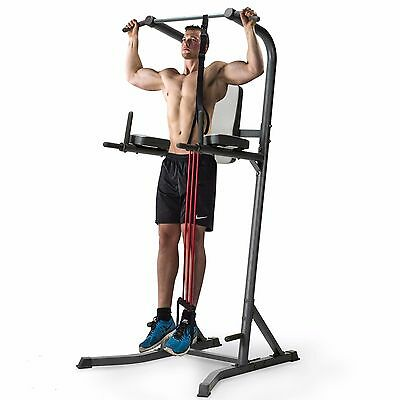 Marcy MD2100 Power Tower with Pull Up Assist Band - Chin Ups, Dips, Knee Raise