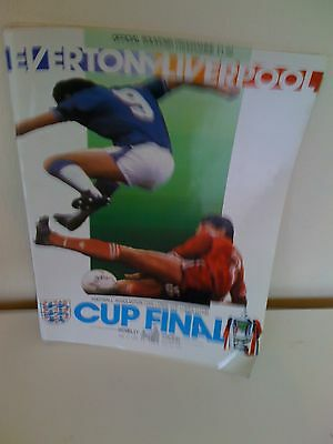 1986 - FA CUP FINAL PROGRAMME - EVERTON v LIVERPOOL