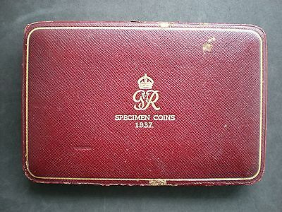1937 ROYAL MINT GEORGE VI PROOF 15 COIN SET - Empty Box