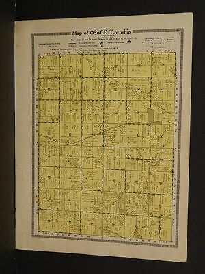 Kansas  Allen County Map Osage Township  1921  W6#18