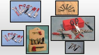 1:12 scale dolls house miniature selection D.I.Y. tools 6 to choose from.