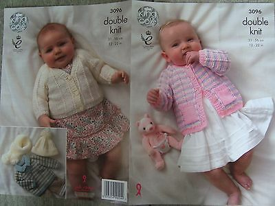 Baby/Child's Cardigans DK Knitting Pattern King Cole 3096