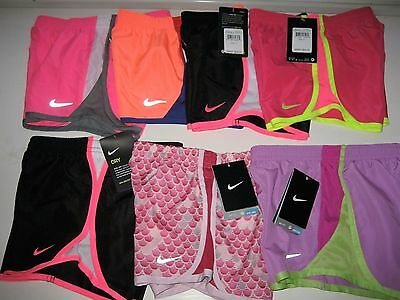 Nike shorts Dri-Fit GIRLS Athletic TEMPO Size 6 or 6X  Running Track SOCCER NWT
