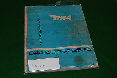 bsa b44 b25 c25 workshop manual