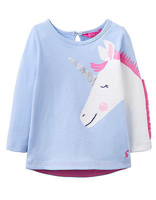 JOULES TOM JOULE Shirt Unicorn Sky Blue sz. 56 - 98 NEW
