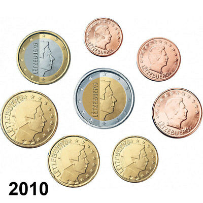 Luxemburg KMS 2010 ST 1 Cent - 2 Euro lose