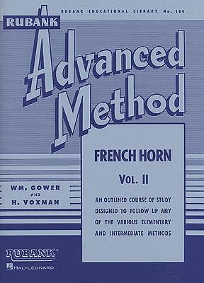 Rubank Advanced Method – French Horn in F or E-flat, Vol. 2, Advanced, 80 Pages