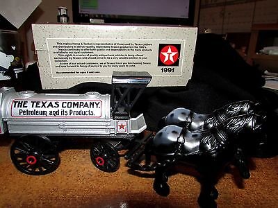ERTL Replica Die-cast LE TEXACO Appaloosa Horses w Tanker MIB Collector Series 8