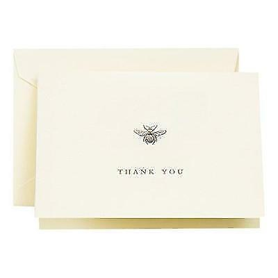 Crane & Co. Engraved Bumble Bee Thank You Note (CT1644) New