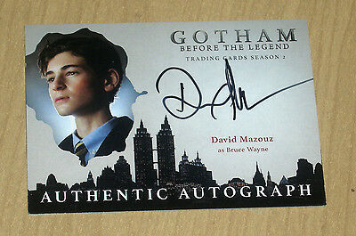 2017 Cryptozoic Gotham season 2 autograph card David Mazouz as BRUCE WAYNE
