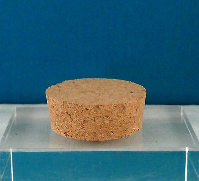 """Natural Cork Round  Stopper Lid 2 5/8-2 3/4""""x1"""" Thick Art Crafts Jar Cannister"""