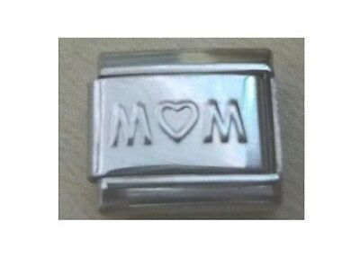 9mm Classic Size Italian Charm  E64  Mother Mum   with Love Heart
