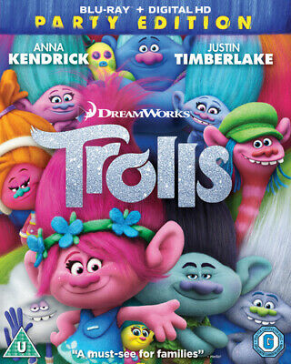 Trolls Blu-Ray (2017) Mike Mitchell cert U Highly Rated eBay Seller Great Prices