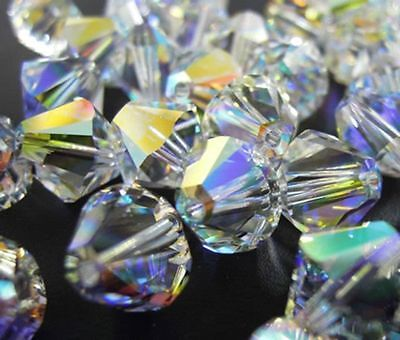 100pcs mix Color Austrian Crystal Glass Bicone Jewellery Making/Tiaras 4mm BEADS