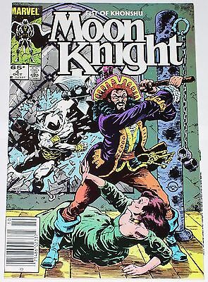 Moon Knight #4 from Oct 1985 VF to VF/NM Fist of Khonshu