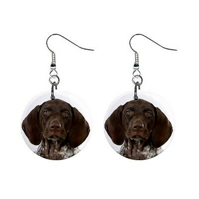 GSP GERMAN SHORTHAIRED POINTER Face Dog Puppy Lovers Gift Dangle Metal EARRINGS