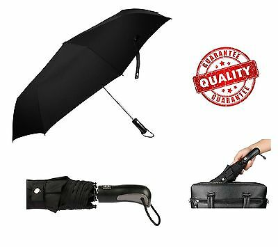 Automatic Travel Umbrella Auto Open Close Compact Folding Waterproof Windproof
