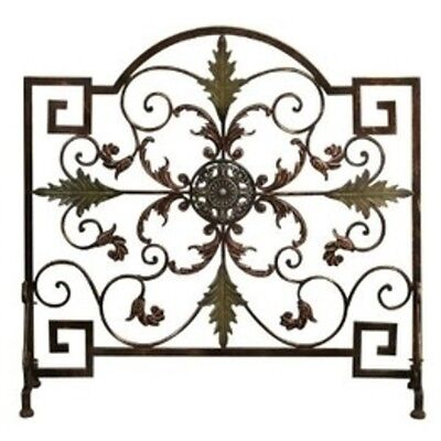 Benzara Kendall Aged Metal Fireplace Screen New 21634 Art NEW