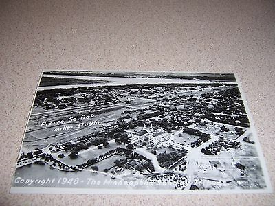 1940s AERIAL-VIEW PIERRE SOUTH DAKOTA SD. REAL-PHOTO RPPC POSTCARD