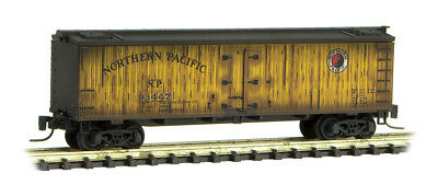 Micro-Trains MTL Z-Scale 40ft Wood Reefer Northern Pacific/NP Weathered #93447