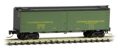 Micro-Trains MTL Z-Scale 40ft Wood Reefer Car Canadian National/CN #10329