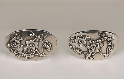A Pair of 19th c. Chinese Hallmarked Silver Buckles, by Wang Hing.