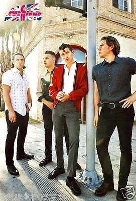 """ARTIC MONKEYS """"GROUP STANDING BY POLE"""" POSTER FROM ASIA - U.K. Indie Rock Music"""