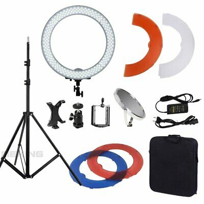 """Dimmable Diva Video 14"""" 18"""" 50W LED Ring Light Mirror Stand Make Up Studio AU"""