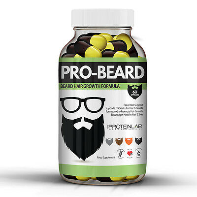 Pro-Beard Beard Growth Capsule Pills, Hair Nutrition, Grow Facial Hair Fast