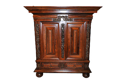 Antique Dutch Pillow Cabinet in Rosewood & Walnut Functional & BEAUTIFUL