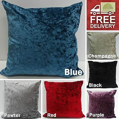 Stylish Luxury Crushed Velvet Cushion Cover Square Case Modern Boudoir Home New