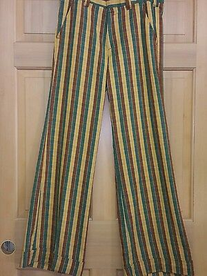 Vintage 70s Bell Bottom Stripe Pants