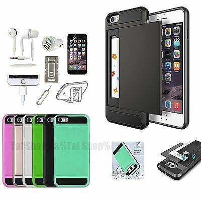 Pocket Case Cover Earphones Screen Protector Accessory Pack For iPhone 7 7 Plus
