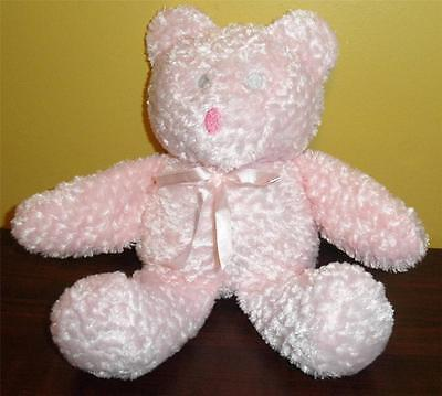 BABY ESSENTIALS Pink Plush stuffed Bear Super Soft LOVEY Rattle