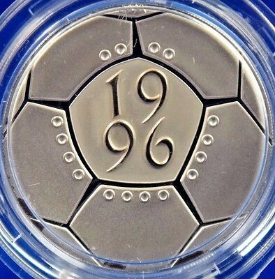 1996 United Kingdom Piedfort £2 Proof Silver Coin Box COA Football Celebration