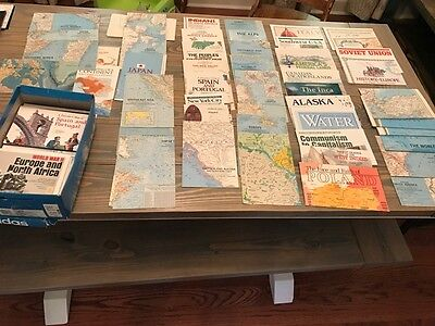 NATIONAL GEOGRAPHIC 100+ MAP LOT 1950s-1990s GREAT SHAPE BIG VARIETY SHIPS FAST!