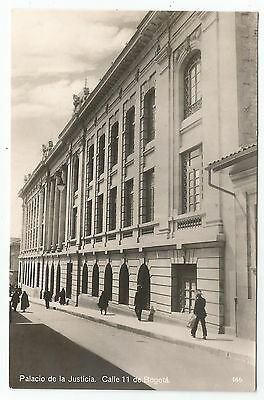 POSTCARD-COLOMBIA-BOGOTA-RP. The Courts of Justice, Calle 11.
