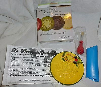 New In Box FINE FRENCH GARLIC GRATER Peeler, Brush & Directions. Other Vegie Too