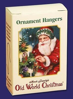 Box Of 100 1 Inch Green Wire Old World Christmas Ornament Hangers 1441