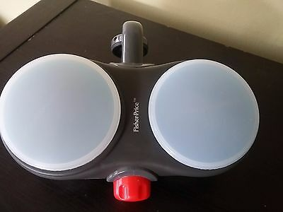 Fisher Price Stroller Snack and Drink Closable Cup Holders