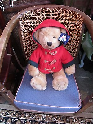 "HARRODS 2003 CHRISTMAS TEDDY BEAR 16""  Foot Stamp Lovely Condition original tag"